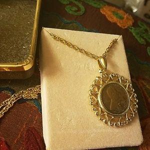 Vintage coin necklace PM 263
